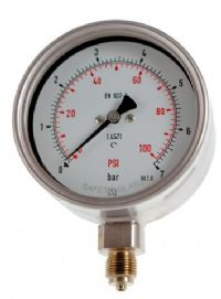 (011) 100mm & 160mm All Stainless Steel Process Industry Pressure Gauge