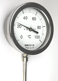 (102) Mercury-In-Steel Thermometer