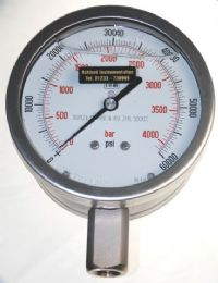 (019) 100mm or 160mm High Pressure Gauge