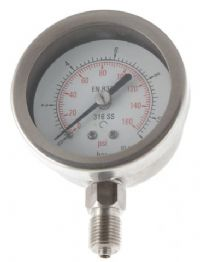(008) 63mm All Stainless Steel Pressure Gauge