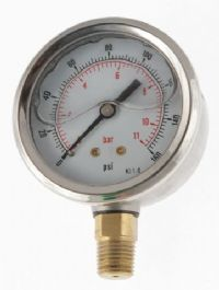 (002) 40mm & 50mm Diameter Glycerine Filled Industrial Series Pressure Gauge