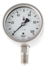 (091) 63mm Diameter Capsule Pressure Gauge