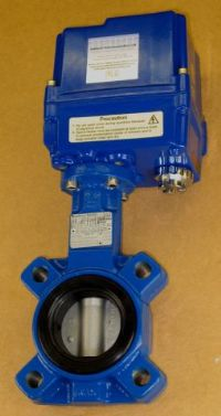 (250) Electrically Actuated Lugged Butterfly Valve