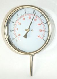 (001) 100mm Stainless Steel Thermometer