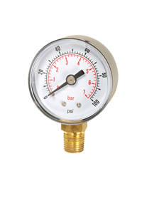 (001) 40mm,  50mm &  63mm Diameter Pneumatic Pressure Gauge
