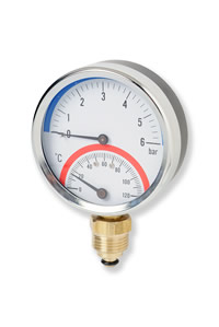 (004) 80mm Combined Pressure / Temperature Gauge