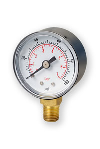 (3) 50mm HVAC Pressure Gauge