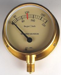 (006) Traction & Steam Engine Eccentric Scale Pressure Gauge