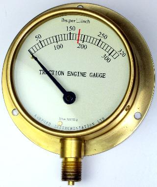 Steam Engine Pressure Gauge 100mm 160mm