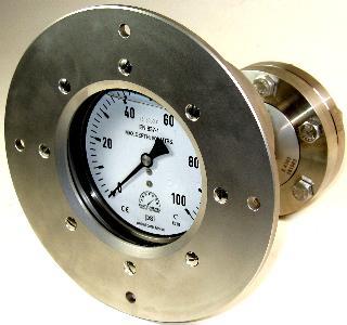 Diaphragm Seal Subsea  Pressure Gauge - 100mm Premium Subsea  900m Gauge