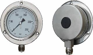 Compensated Subsea Pressure Gauge - 100mm Stainless Steel Case