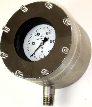 Subsea Pressure Gauge - 100mm Premium Subsea 6000m