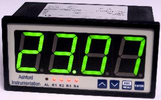 Digital Pneumo Gauge Panel Display 144 X 72 X 120mm - Green