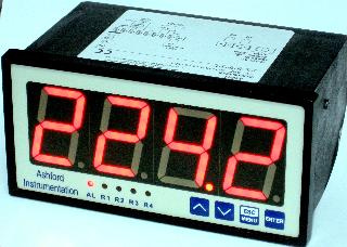 Digital Pneumo Gauge Panel Display 144 X 72 X 120mm - Red