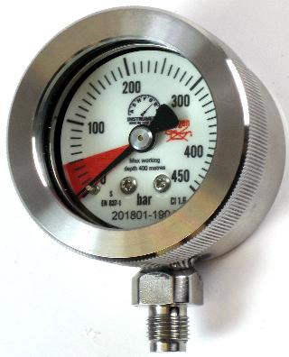 50mm Bail Out Gauge Mixed Gas Diving - Submersible 400m